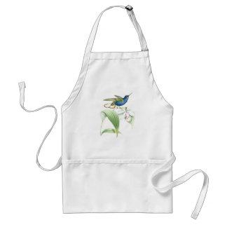 Hummingbird Birds Flowers Floral Wildlife Animals Adult Apron