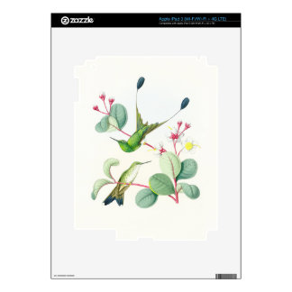 Hummingbird Birds Flowers Floral Wildlife Animals Decals For iPad 3