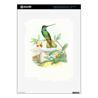 Hummingbird Birds Flowers Floral Wildlife Animals iPad 3 Decal