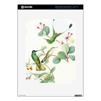 Hummingbird Birds Flowers Floral Wildlife Animals iPad 3 Decals