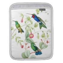 Hummingbird Birds Flowers Floral Wildlife Animals Sleeve For iPads