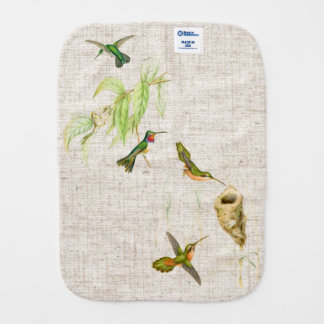 Hummingbird Birds Flowers Wildlife Animals Floral Burp Cloth
