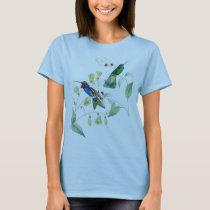 Hummingbird Birds Flowers Wildlife Animals Floral T-Shirt