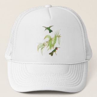 Hummingbird Birds Flowers Wildlife Animals Floral Trucker Hat