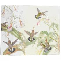 Hummingbird Birds Flowers Wildlife Floral Animals Binder