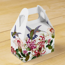 Hummingbird Birds Honeysuckle Flower Floral Favor Box