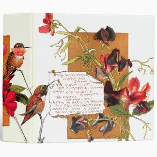 Hummingbird Birds Island Sweet Pea Floral Poems Binder