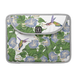 Hummingbird Birds Morning Glory Flowers Floral MacBook Pro Sleeve