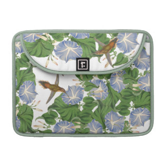 Hummingbird Birds Morning Glory Flowers Floral Sleeve For MacBooks