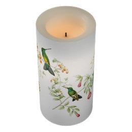 Hummingbird Birds Nest Flowers Floral Candle