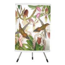 Hummingbird Birds Orchid Flowers Floral Lamp