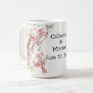 Hummingbird Birds Orchid Flowers Wedding Mug