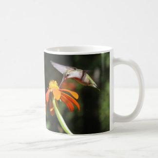 Hummingbird Birds Sunflower Flowers Floral Garde Coffee Mug