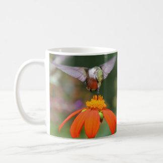 Hummingbird Birds Sunflower Flowers Floral Garden Coffee Mug