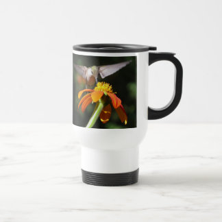 Hummingbird Birds Sunflower Flowers Floral Garden Travel Mug