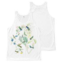 Hummingbird Birds Wildlife Animal Floral All-Over-Print Tank Top