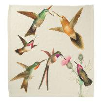Hummingbird Birds Wildlife Animal Flowers Bandana