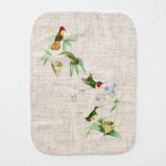 Hummingbird Birds Wildlife Animals Flowers Floral Burp Cloth