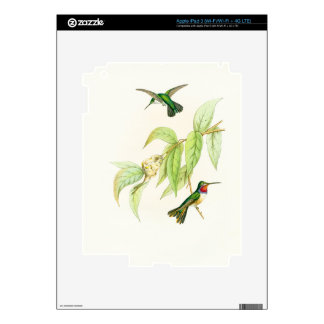 Hummingbird Birds Wildlife Animals Flowers Floral Decals For iPad 3