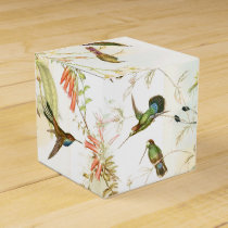 Hummingbird Birds Wildlife Animals Flowers Floral Favor Box
