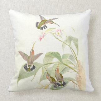 Hummingbird Birds Wildlife Animals Flowers Floral Throw Pillow