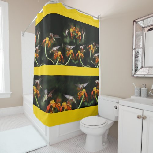 Hummingbird Birds Wildlife Animals Flowers Shower Curtain