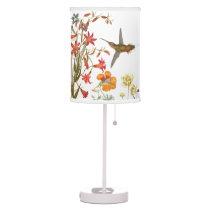 Hummingbird Birds Wildlife Flower Floral Garden Table Lamp