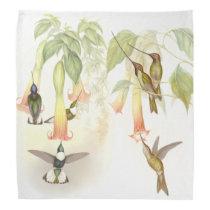 Hummingbird Birds Wildlife Flowers Animals Floral Bandana