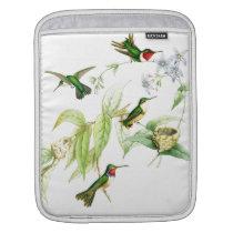 Hummingbird Birds Wildlife Flowers Animals Floral iPad Sleeve