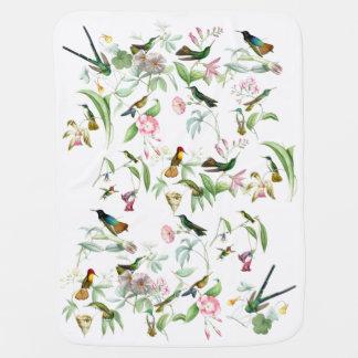 Hummingbird Birds Wildlife Flowers Animals Floral Stroller Blanket