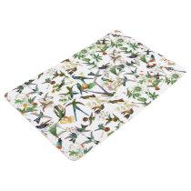 Hummingbird Birds Wildlife Flowers Floor Mat