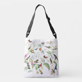 Hummingbird Birds Wildlife Flowers Nests Tote Bag