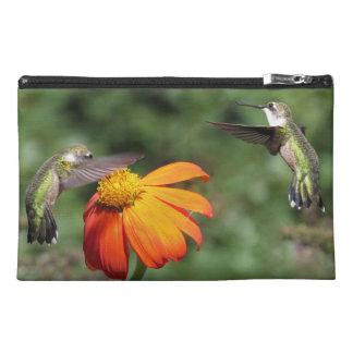 Hummingbird Birds Wildlife Sunflower Flower Floral Travel Accessory Bag