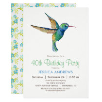 Hummingbird Birthday Party Invitation