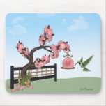 Hummingbird Blossoms Mouse Pad