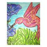 Hummingbird Blues Personalized Letterhead