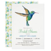 Hummingbird Bridal Shower Invitation