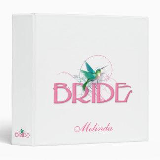 Hummingbird Bride 3 Ring Binder