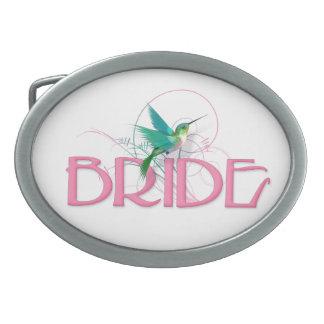 Hummingbird Bride Belt Buckle
