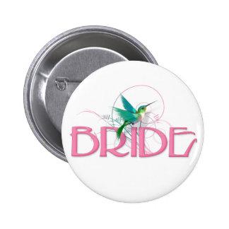 Hummingbird Bride 2 Inch Round Button