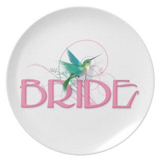 Hummingbird Bride Dinner Plate