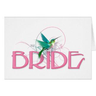 Hummingbird Bride Greeting Card