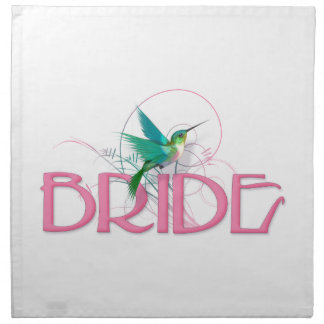 Hummingbird Bride Napkin