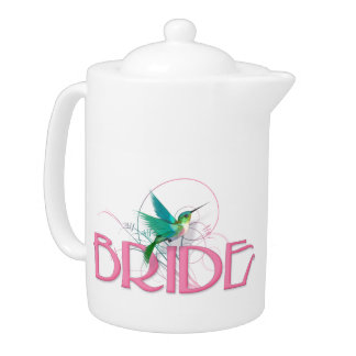 Hummingbird Bride Teapot