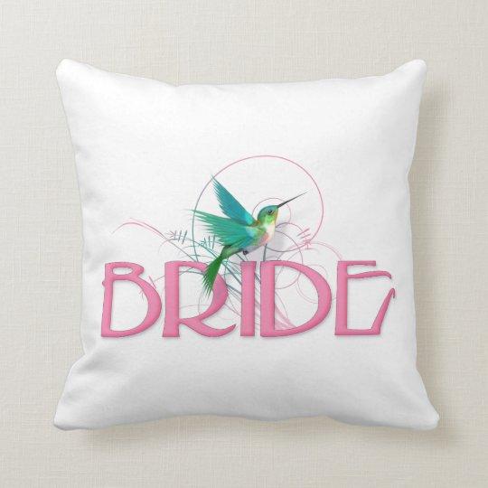 Hummingbird Bride Throw Pillow