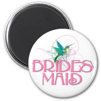 Hummingbird Bridesmaid 2 Inch Round Magnet
