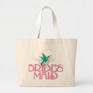 Hummingbird Bridesmaid Jumbo Tote Bag