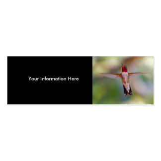 hummingbird Double-Sided mini business cards (Pack of 20)