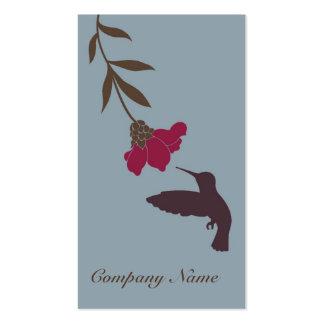 Hummingbird Business Card (Blue)