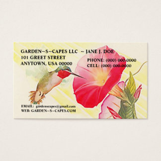 HUMMINGBIRD BUSINESS CARDS ~ MAKE A STATEMENT!